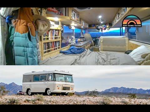 Renovating A 1964 Clark Cortez Motorhome - DIY Camper Van Tour