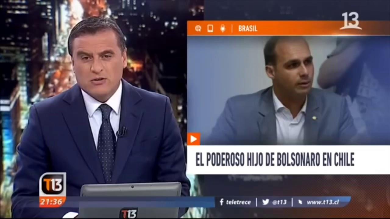 (Legendado) Imrensa do Chile cobre passagem de Eduardo Bolsonaro pelo país (13/DEZ/2018)