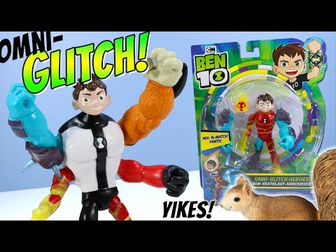 Ben 10 Reboot Action Figures Omni-Glitch Heroes Mix-'N-Match Playmates Toys