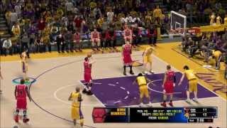 NBA 2K14 PC GAMEPLAY LA LAKERS VS CHICAGO BULLS FULL MATCH