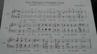 "Jon Fisher plays ""Eric Whitacre Birthday Tune"" (Instrumental)"