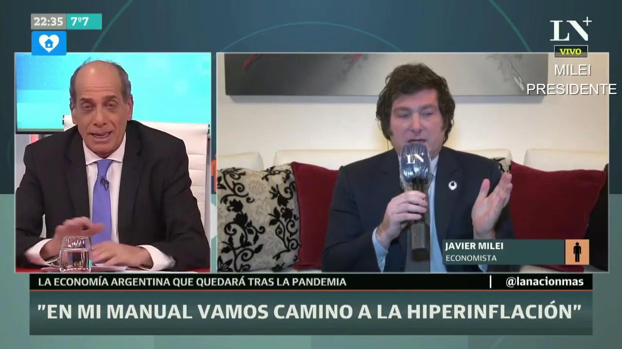 """""""Vamos camino a una hiperinflación"""" Javier Milei con Willy Kohan- 01/07/20"""
