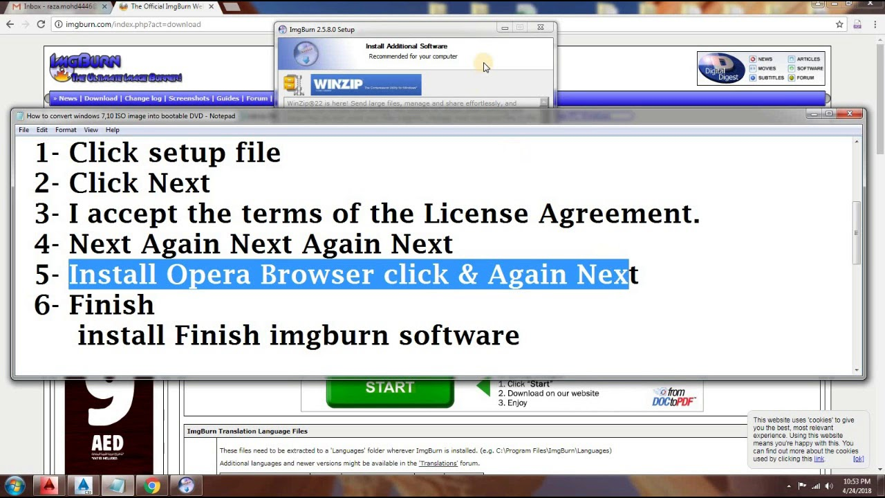 How To Download Install Imgburn With License 2nd Step Coming Soon