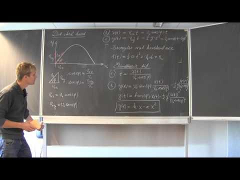 Fysik - Det skrå kast