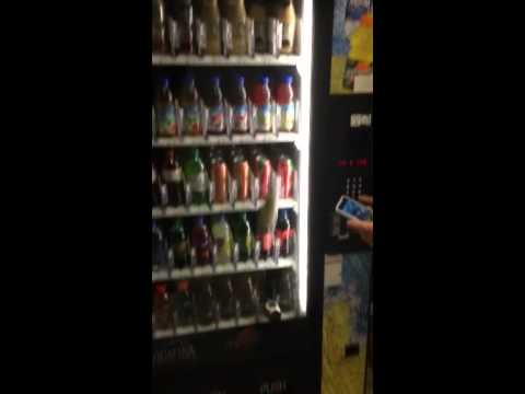 Breaking bottles in a vending machine