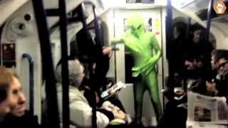 Martian Dancing on London Underground