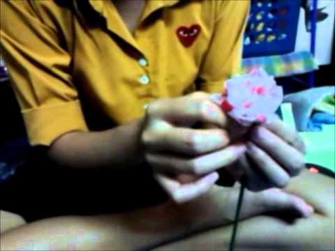 ดอกไม้ประดิษฐ์จากถุงพลาสติก