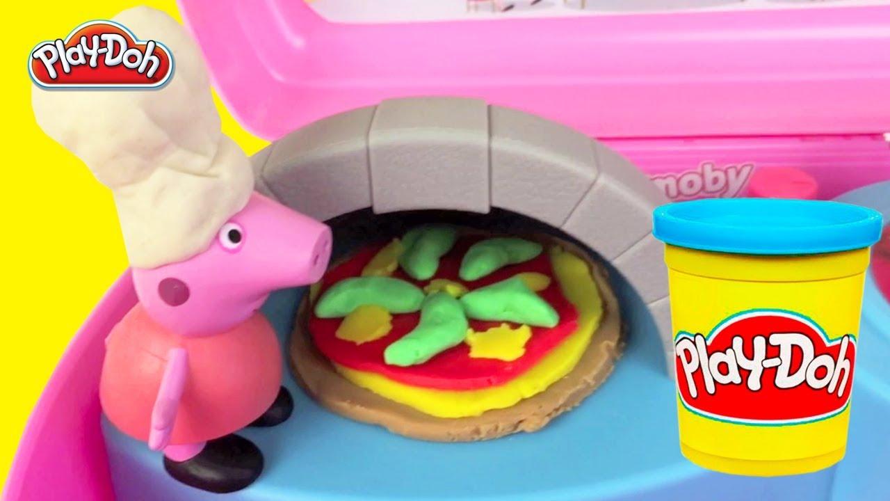 Play Doh Keuken : Klei filmpje peppa pig speelgoed keuken met oven pizza maken van