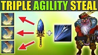 Insane Ultimate Upgrade + Triple Agility Gain [Monster Sniper] Dota 2 Ability Draft