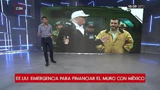 EE.UU: Emergencia para financiar el muro con México