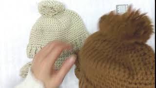 아아 페이크퍼 귀달이 방울 털모자 - 트루러비
