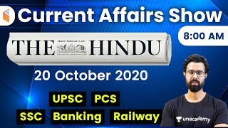 8:00 AM - Daily Current Affairs 2020 by Bhunesh Sharma | 20 October 2020 | wifistudy