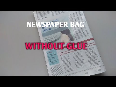 How To Make Paper Bag Without Glue--- Paper bag Making,