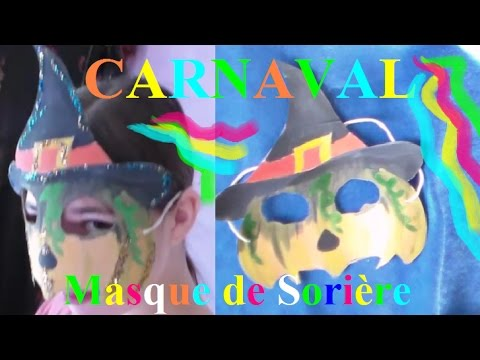 fabriquer un masque carnaval en carton de sorci re bricolage facile youtube. Black Bedroom Furniture Sets. Home Design Ideas