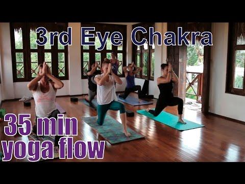35 Minute Yoga Class Chakra Series Part 6: 3rd Eye Chakra (Ajna)