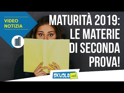 Maturità 2019: tutte le materie di seconda prova!