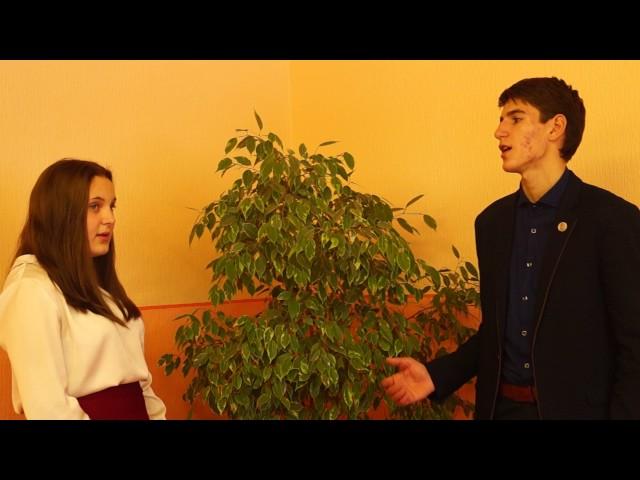 Изображение предпросмотра прочтения – «МАОУ СОШ №1 с.Александровское» читают произведение «Адам и Ева» В.Я.Брюсова