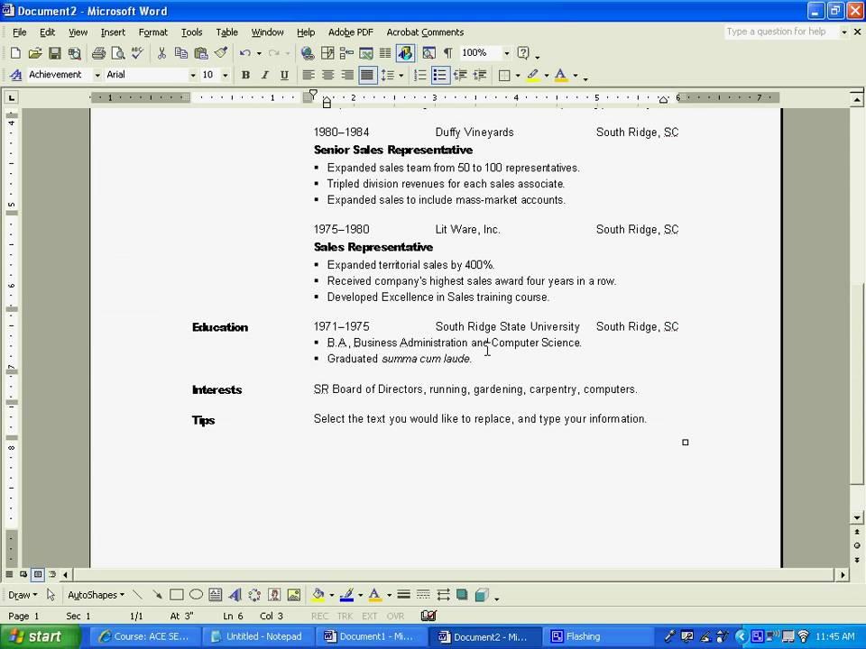 Resume Creation. basic resume creation youtube. resume cover ...