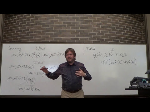 Lecture35- Excess Enthalpy and Activity