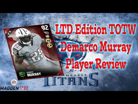LTD Edition Team Of The Week Demarco Murray | Player Review | Madden 17 Ultimate Team