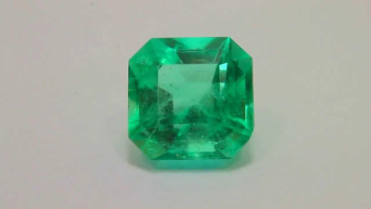 Batu Permata emerald ( zamrud) Colombia 2.94cts - YouTube