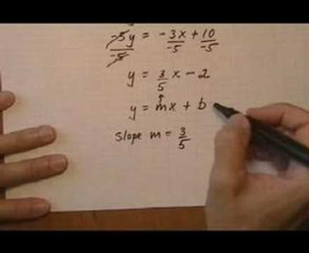 Find Slope Of Line From Equation Youtube
