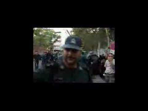 Pro-government woman beaten by Iranian polics