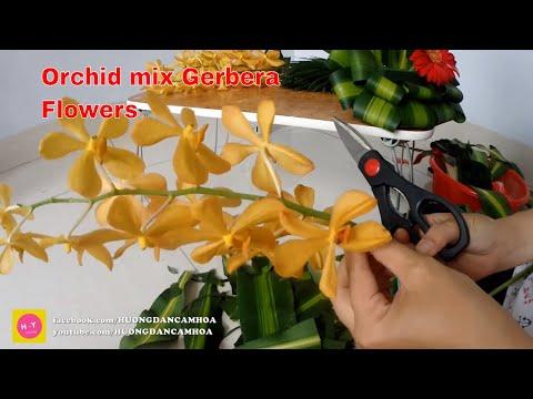 Cắm hoa bàn thờ tập 74|HOA LAN VÀNG ,HOA ĐỒNG TIỀN Đỏ