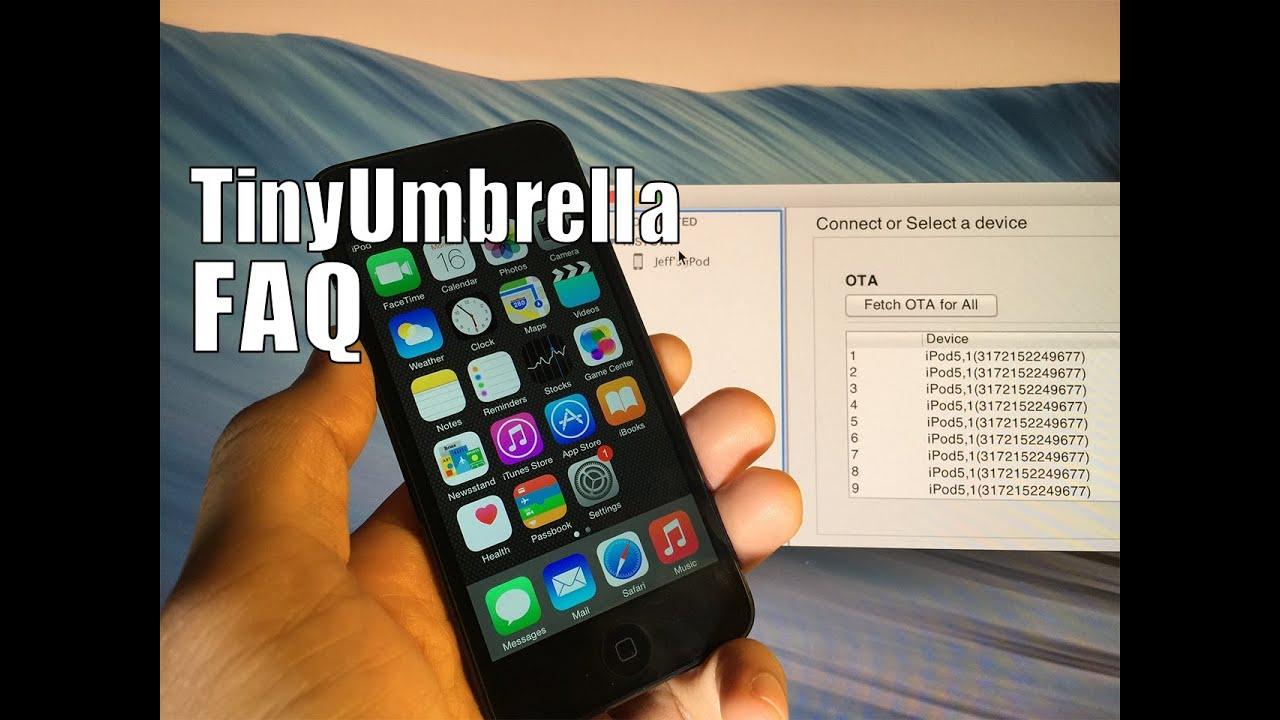 iOS 8 Downgrade Prep: Use TinyUmbrella beta to save SHSH blobs