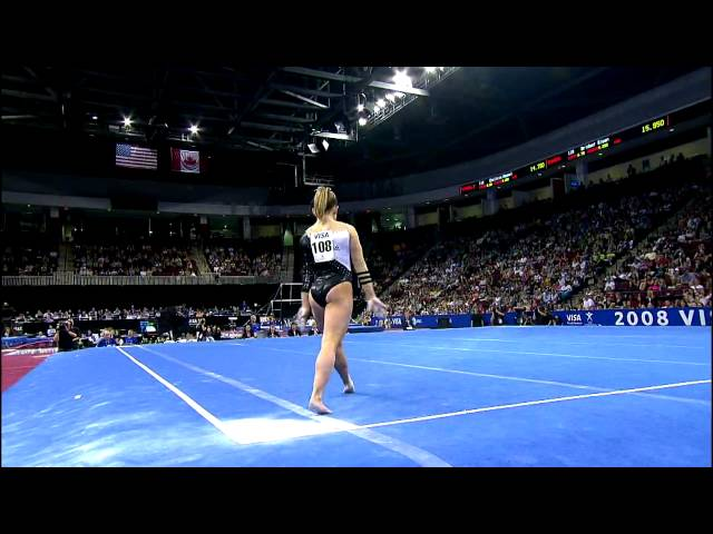 Shawn Johnson - Floor Exercise - 2008 Visa Championships - Day 2