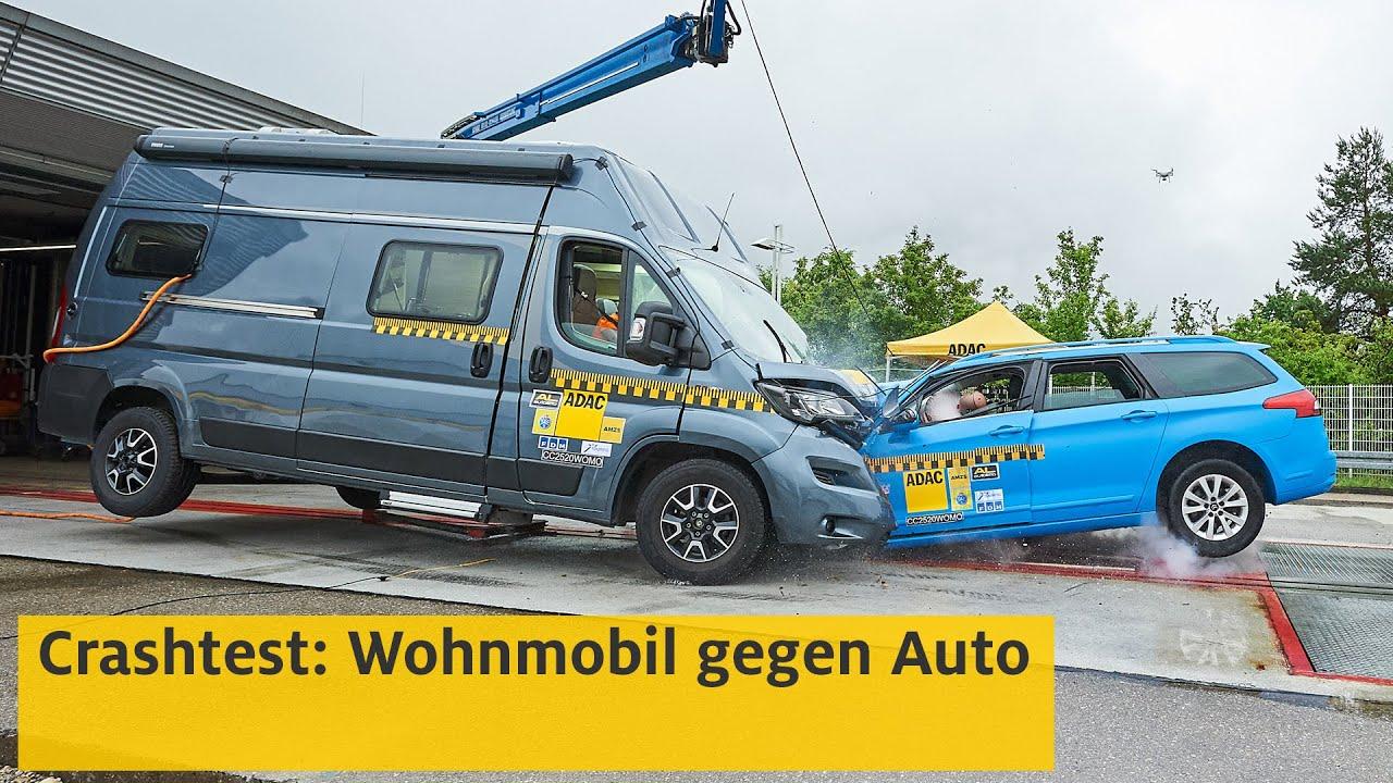 Wohnmobil im Crashtest  ADAC
