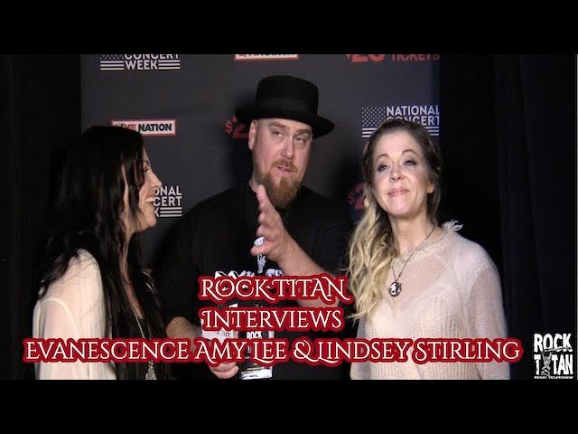 Evanescence Amy Lee and Lindsey Stirling speed dating at Live Nation