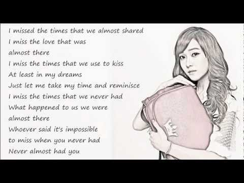 Jessica (SNSD) - Almost / with lyrics on screen