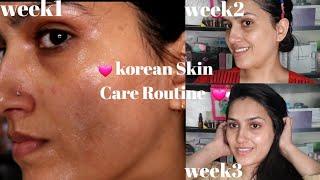 korean 6 Step Skin Care Routine | How To Properly Use Korean Sheet Mask | Natasha waqas