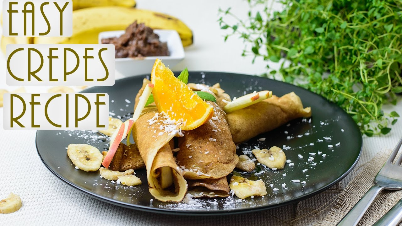EASIEST VEGAN CREPES EVER | DELICIOUS SWEET OR SAVORY
