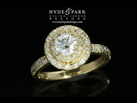 18 Carat Yellow Gold, Custom Made Diamond Engagement