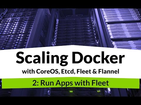Scaling Docker #2 - Tutorial on Scheduling Docker Containers across CoreOS machine with Fleet