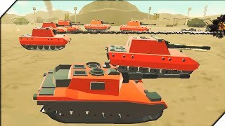 ТАНКИ ЛЕГКО ПОБЕЖДАЮТ ВСЕХ -  Игра Army Battle Simulator Битва солдатиков. Лучшие игры для андроид