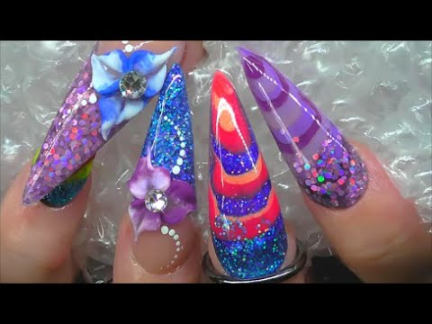Alice In Wonderland Inspired Tye Dye Acrylic Nails Absolute You