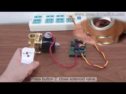 AC 220V Output Remote Controller Kit Open / Close Solenoid Valve