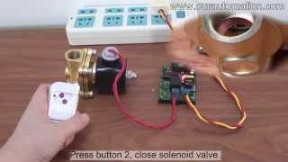 AC 220V Output Remote Controller Kit Open / Close Solenoid Valve