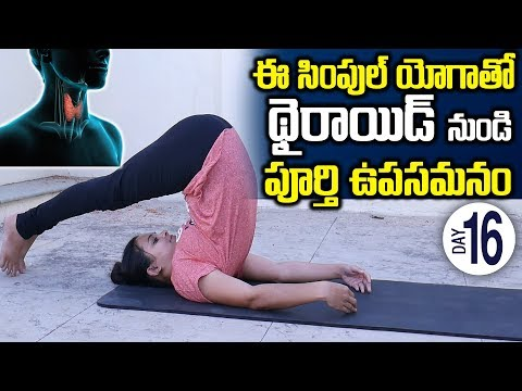 ఈయోగాతో థైరాయిడ్ మాయం | Best yoga for thyroid problems |Thyroid Treatment| Thyroid Problems In Women