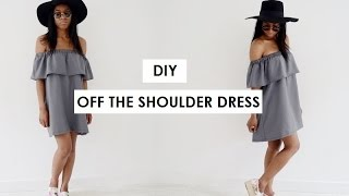 DIY | HOW TO MAKE AN OFF THE SHOULDER DRESS (pattern available)