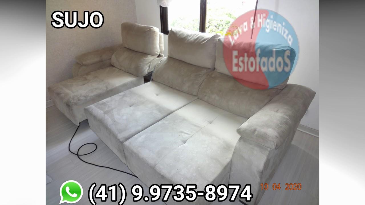 Limpeza de sofá em Curitiba - YouTube