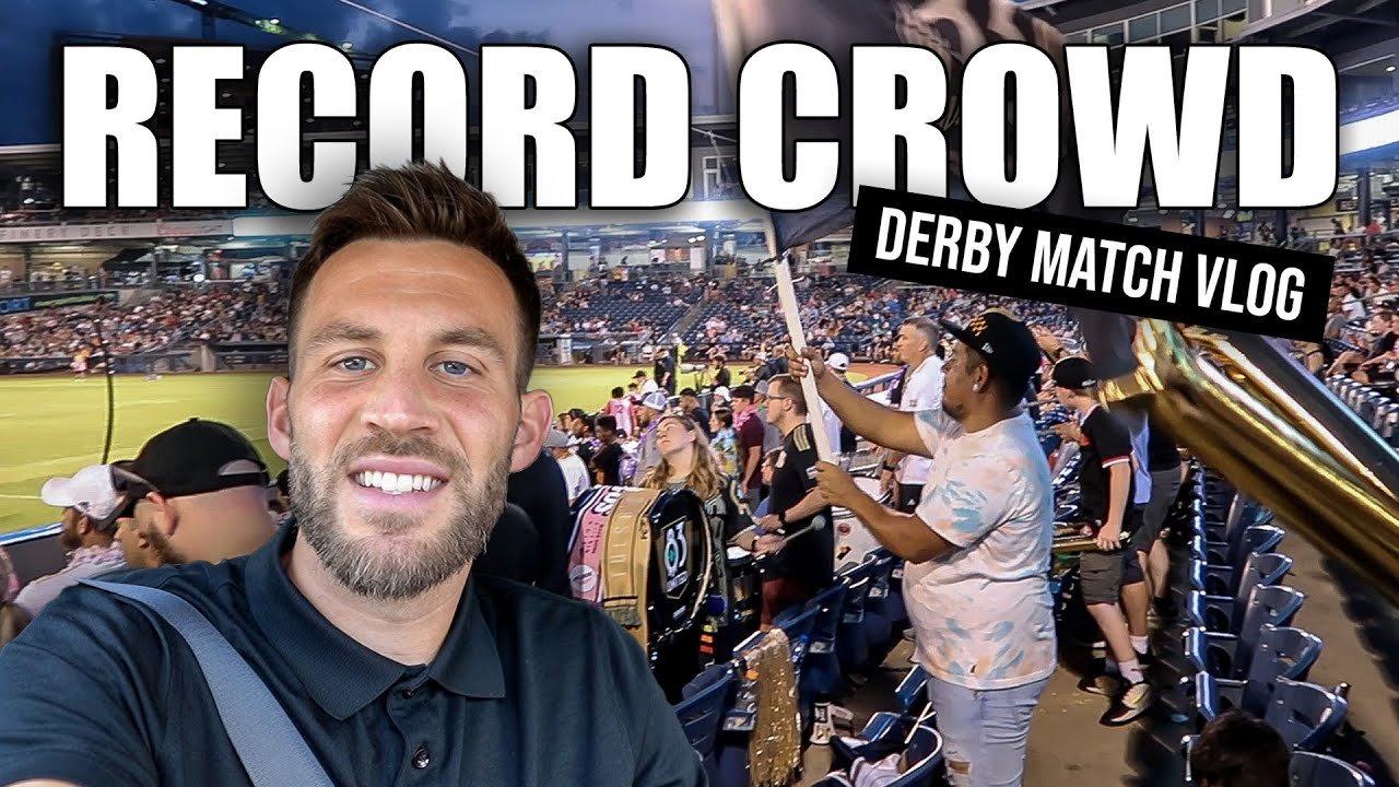 Record Crowd for Derby Match!   Short Game Vlog