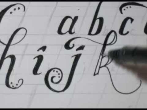 cursive lower case letters fancy cool easy step by step how to draw letters