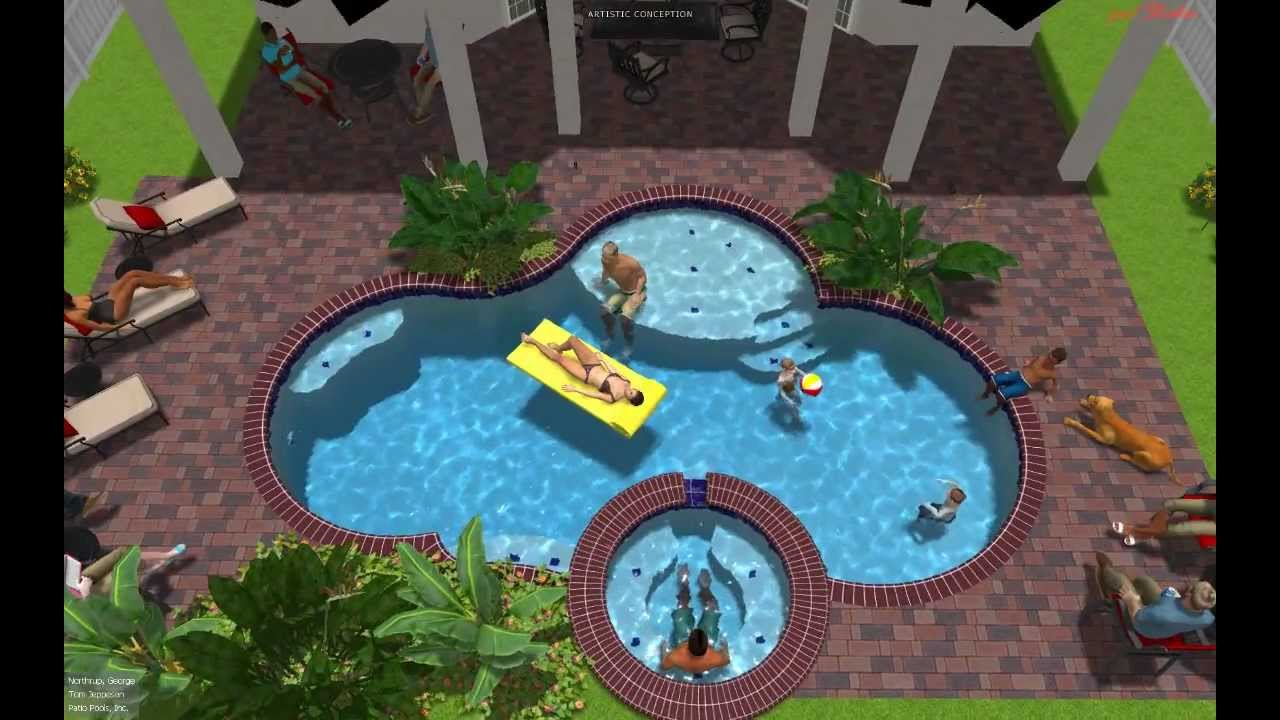 Patio Pools Tampa Florida Est. 1979 Custom Inground Swimming Pool Builder /  Contractor