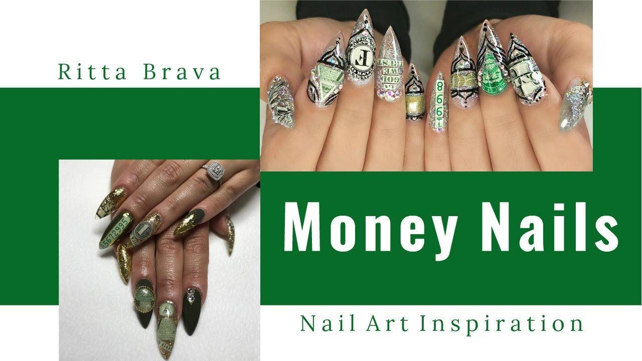 Money Nails Nail Art Using Real Money Youtube