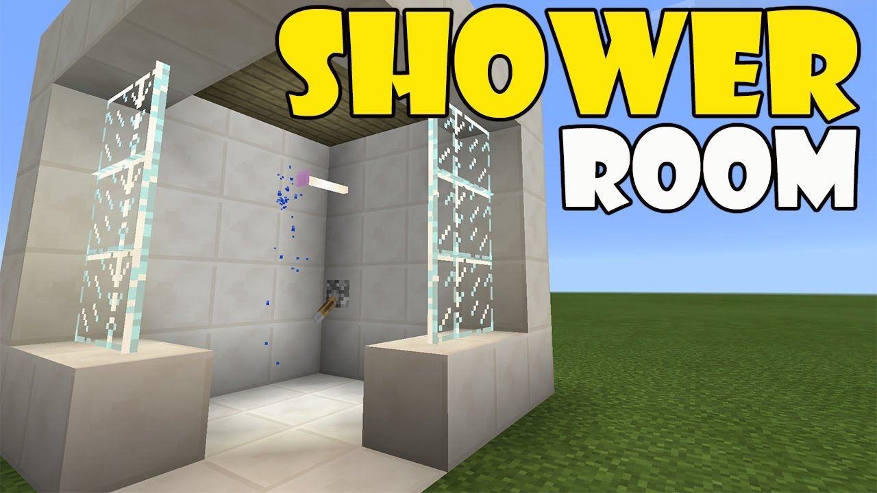 How To Make A Shower Room Minecraft Pe Pocket Edition