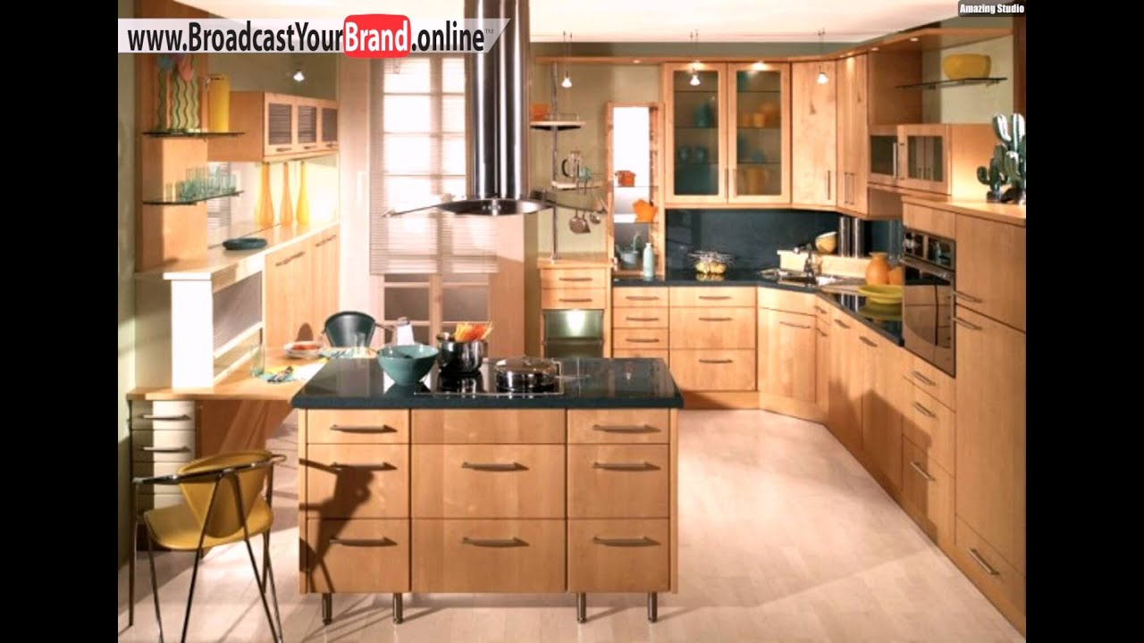 Schubladen Holz Ideen Kücheninsel Designs Klassisch - YouTube